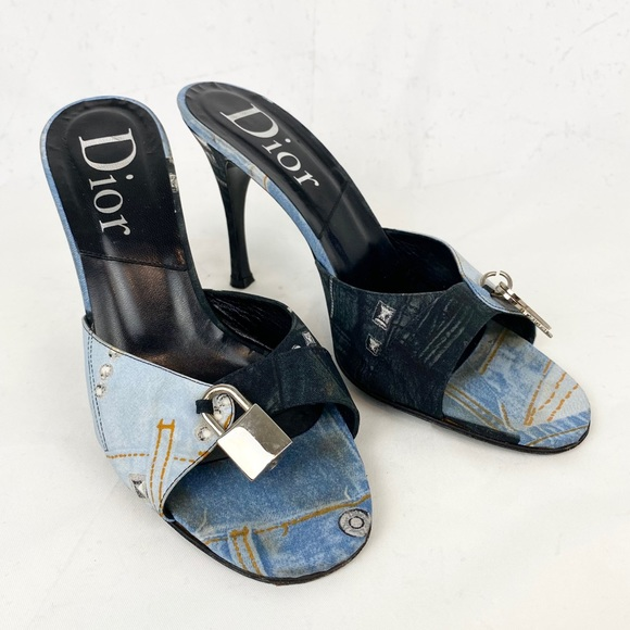 DIOR Galliano era lock and key heels